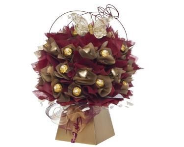 Ferrero Chocolate bouquet in Burgundy