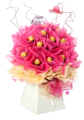 Mothers day pink chocolate bouquet