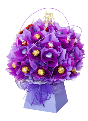 Mothers day pink and lilac chocolate bouquet