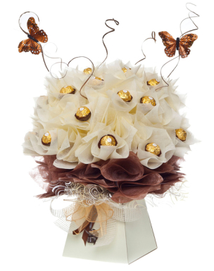Mothers day ferrero rocher chocolate bouquet