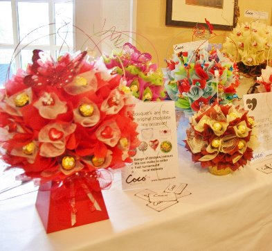 Candy and Chocolate bouquet in red