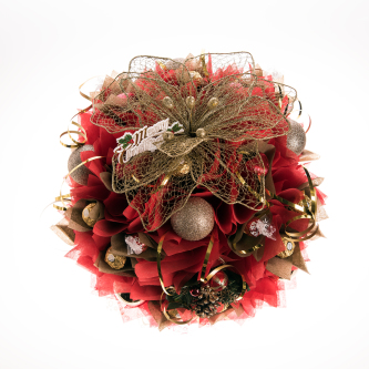Gold christmas chocolate bouquet gift