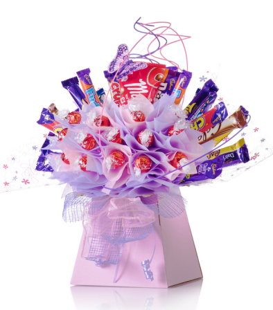Mothers day candy bar chocolate bouquet