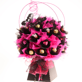Black chocolate bouquet