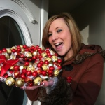 Christmas chocolate bouquet wreath