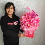 Ladies Pink Ferrero Rocher chocolate Bouquet